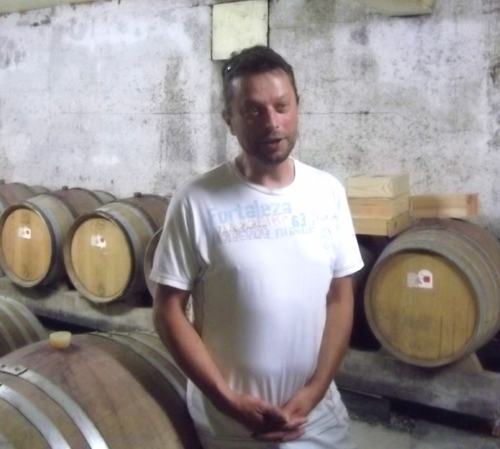 Philippe Verzier in his cellar. It was his 2012 Viognier that I used for the Big Event.