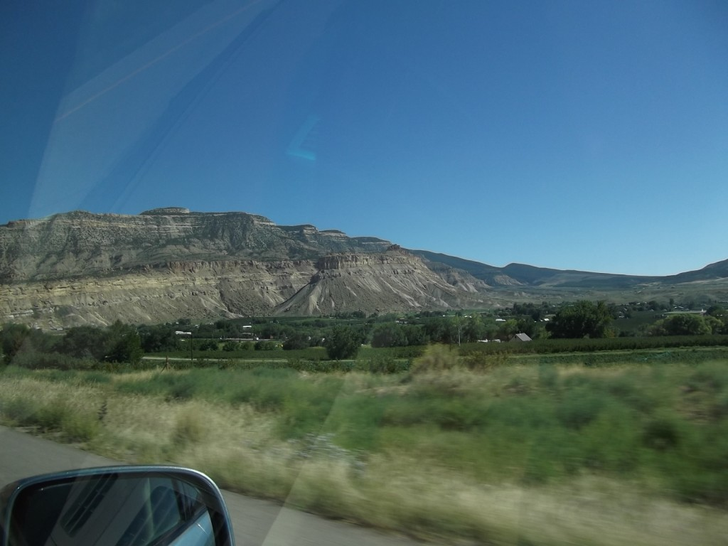 Colorado wine country - out the car window towards Palisade