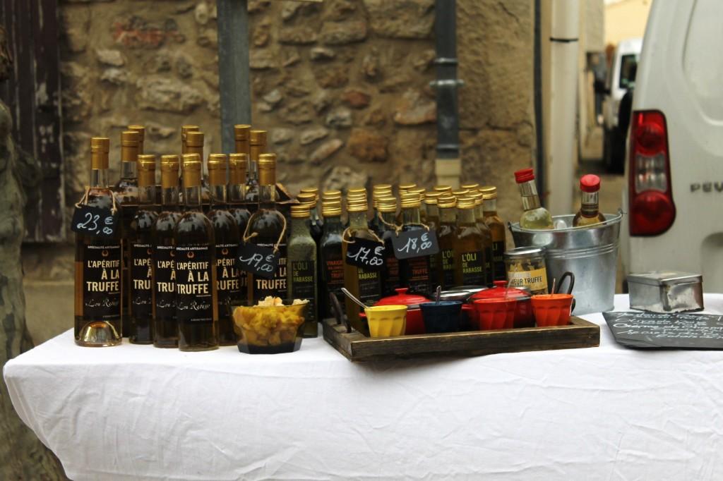 Truffle oil, truffle-flavoured aperitif