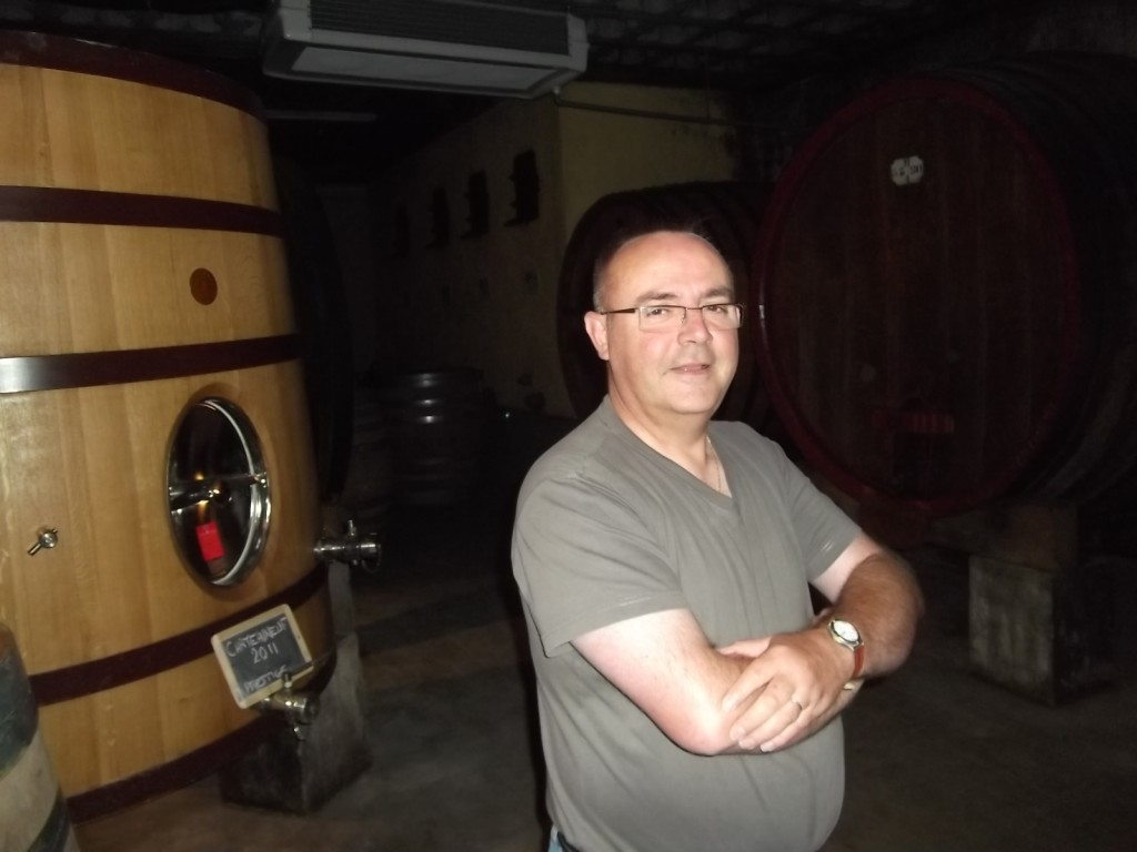In the cellar with Gibert Sabon
