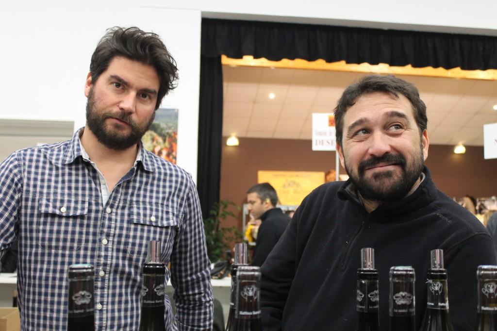 Matthieu Barret (right)