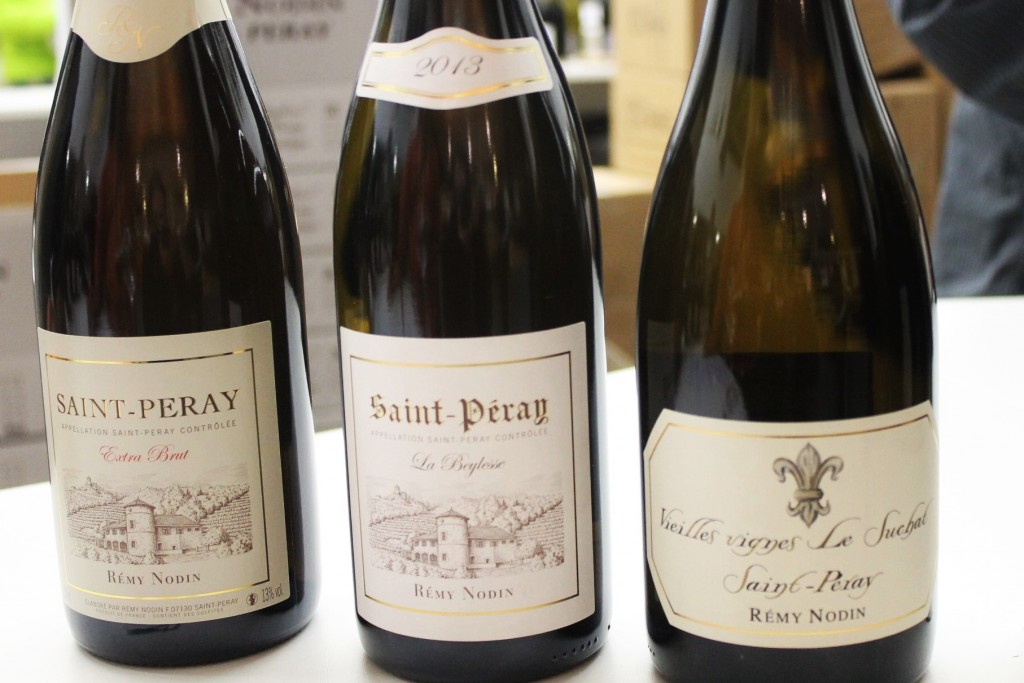 "Remy Nodin's St. Peray - take your pick from the sparkling Extra Brut, ""La Beylesse"" and the ""Vieilles Vignes"". There is also a regular cuvee."