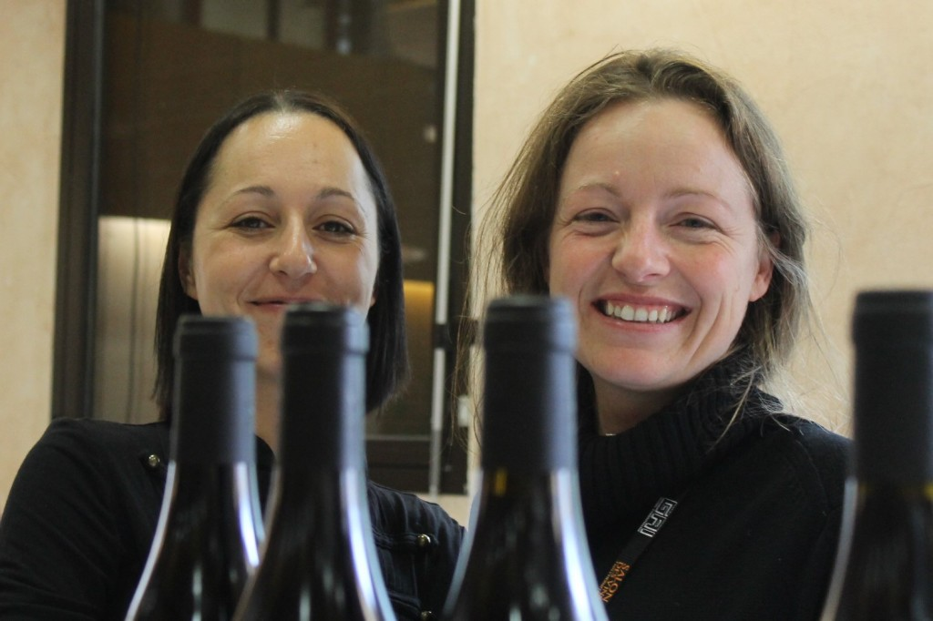 Lucie Fourel (right)