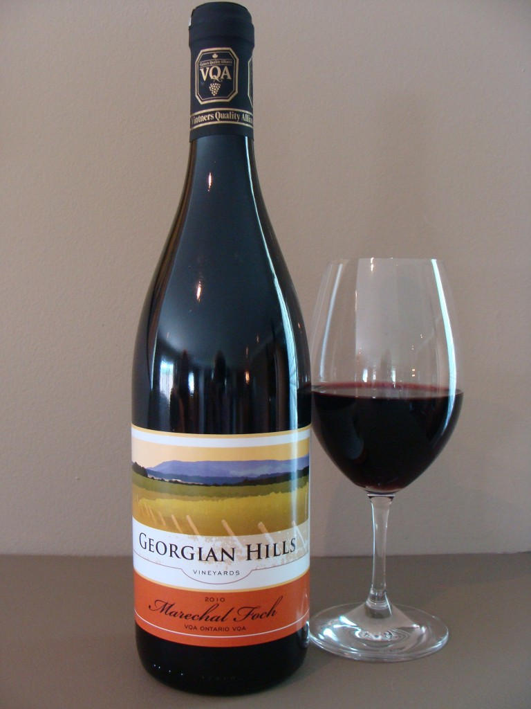 This red wine from Ontario is made with a hybrid popular in Canada and the northern states of America, Marechal Foch.