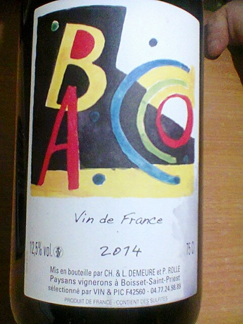 """Bacco"", one of the few wines available in France made with a hybrid grape."